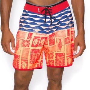 Hurley Phantom Mens Tahiti Boardshorts Size 30